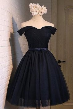 2019 off the shoulder a line homecoming dresses tulle with ruffles and sash € - SchickeAbendKleider.de - 2019 Off The Shoulder A Line Homecoming Dresses Tulle With Ruffles And Sash - Prom Dresses For Teens, Grad Dresses, Homecoming Dresses, Summer Dresses, Wedding Dresses, Dress Prom, Evening Dresses, Dama Dresses, Short Dresses