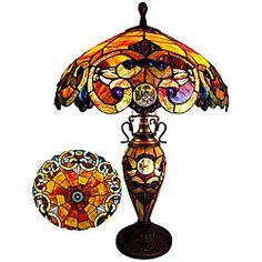 @Overstock - Fill any room with old-world charm with this ornate stained glass table lamp. Reminiscent of the Victorian era, the bronze casting denotes high sophistication, and the colorful glass brings life and joy to the piece and to the space it occupies.http://www.overstock.com/Home-Garden/Victorian-Two-Light-Table-Lamp/6777475/product.html?CID=214117 $169.99
