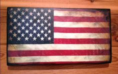 American Flag Distressed Vintage Patriotic Wood Sign by SignNiche, $25.00