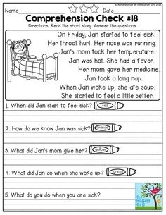 Simple Reading COMPREHENSION Checks for early readers!
