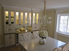 Dining Room Walld Ecor With Built In Cabinet In White Combined With Marble  Countertop For .