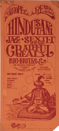 The Hindustani Jazz Sextet (with Don Ellis), Grateful Dead and Big Brother and the Holding Company at the Fillmore, 1966