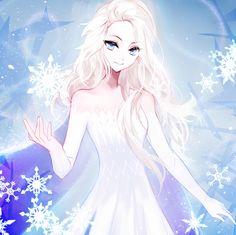 Elsa the Snow Queen - Frozen (Disney) - Image - Zerochan Anime Image Board Anime Princesse Disney, Princesa Disney Jasmine, Disney Princess Pictures, Disney Princess Frozen, Princess Luna, Images Disney, Disney Fan Art, Anime Art Girl, Anime Girls