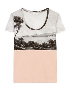mytheresa.com - Dries Van Noten - HENIZE T-SHIRT MIT PRINT - Luxury Fashion for Women / Designer clothing, shoes, bags ($100-200) - Svpply