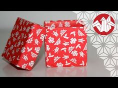 Origami - Boîte cubique - Cubic box [Senbazuru] - YouTube
