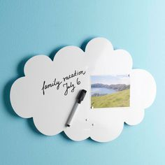 Ideas in the Clouds Dry Erase Magnet Board