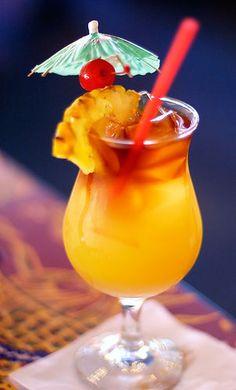 Mai Tai:  2 oz orange juice  2 oz pineapple juice  1 oz Rose's lime juice  1 oz dark rum  1 oz light rum  1/2 oz triple sec  1/2 oz grenadine