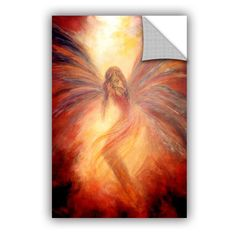 ArtApeelz Fallen Angel by Marina Petro Painting Print on Canvas