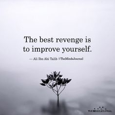 Inspirational Quotes // The best revenge is to improve yourself. The Best Revenge Is To Improve Yourself Imam Ali Quotes, Hadith Quotes, Quran Quotes, Wise Quotes, Words Quotes, Motivational Quotes, Sayings, Mommy Quotes, Famous Quotes