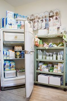 baby products displayed in refrigerator, Amelia Jane, retail store