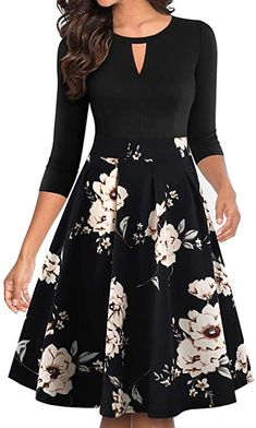 Shop a great selection of YATHON Women's Vintage Floral Flared A-Line Swing Casual Party Dresses Pockets. Find new offer and Similar products for YATHON Women's Vintage Floral Flared A-Line Swing Casual Party Dresses Pockets. Casual Party Dresses, Casual Dresses For Women, Dresses For Work, Summer Dresses, Dress Casual, Mothers Day Dresses, Look Fashion, Fashion Women, Pretty Dresses