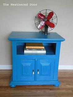 DIY home crafts DIY Blue Lagoon Nightstand DIY home crafts