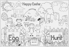 Free download coloring page for Easter