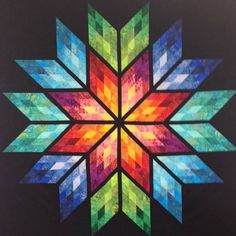 Prismatic Star ~Quiltworx.com, made by CI Anne Hall