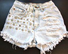 High waisted shorts #studs