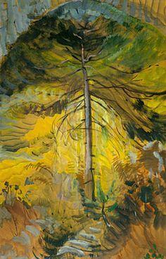 Happiness, 1939 , huile sur papier - Emily Carr, Canadian Group of Seven Tom Thomson, Canadian Painters, Canadian Artists, Landscape Art, Landscape Paintings, Landscapes, Tree Paintings, Small Paintings, Beautiful Paintings