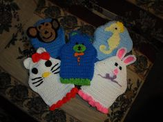 Check out this item in my Etsy shop https://www.etsy.com/listing/125968150/childrens-bath-mitt-animal-puppets