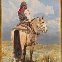 """El rastreador""   Aldo Chiappe #gaucho #art #paint #painting #argentine #argentina #argentinian #instaart #instapic #horse #cavalo #caballo #criollo #crioulo #chiappealdo #chiappe #acrilico #acrylic"
