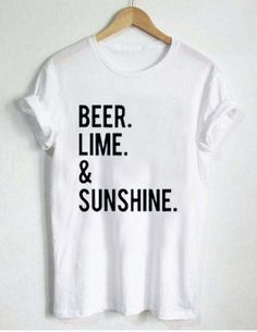 beer lime and sunshine T Shirt Size XS,S,M,L,XL,2XL,3XL