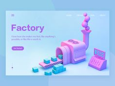 factory by Roy Hustory on Dribbble People Illustration, Character Illustration, Graphic Design Illustration, Art Illustrations, 3d Cinema, 3d Printed Objects, 3d Icons, Web Design, Factory Design