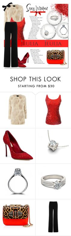 """""""Sexy women - Jeulia jewelry"""" by e-mina-87 ❤ liked on Polyvore featuring Dorothy Perkins, Casadei, Christian Louboutin, Diane Von Furstenberg, women's clothing, women, female, woman, misses and juniors"""