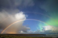 Rainbow and Aurora -