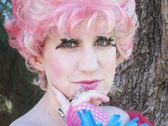 Effie Trinket cosplay and makeup by Rebecca Ann Jordan