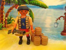 Playmobil Pirat / Seeräuber Figur Pirat mit Fässer, Pistole und Säbel, TOP!!!