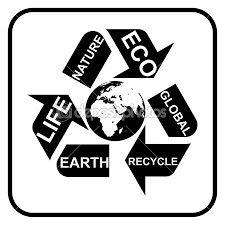 Resultado de imagem para imagem simbolo reciclagem