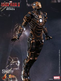 Marvel Iron Man Mark XLI - Bones Sixth Scale Figure by Hot T | Sideshow Collectibles