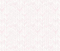 Featherland (white with pink) fabric by leanne on Spoonflower - custom fabric