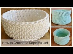 How to Crochet a Basket - YouTube