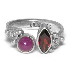 Wrap-Around Garnet and Ruby Ring - Offerings Jewelry by Sajen