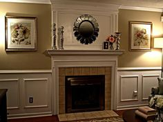 Living Room Paint Ideas with Fireplace . Living Room Paint Ideas with Fireplace . Living Room Fireplace Makeover Ideas with Living Room Update, Living Room On A Budget, Living Room Remodel, Living Room Paint, My Living Room, Small Living, Modern Living, Installing Wainscoting, Dining Room Wainscoting