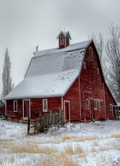 country living: red barn
