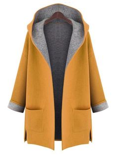 Cheap hooded cardigan, Buy Quality women winter directly from China cardigan hood Suppliers: New 2017 Large Size womens winter jackets and woolen coats hooded cardigan Windbreaker manteau femme show thin abrigos mujer Oversize Pullover, Plain Hoodies, Coats For Women, Clothes For Women, Ladies Coats, Jackets For Women, Stylish Plus, Stylish Coat, Hooded Cardigan