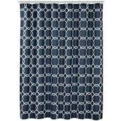 Spencer Linked Tile Fabric Shower Curtain