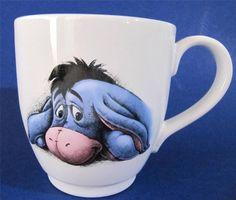 EEYORE Coffee Mug Cup Super Large Size Holds 16 oz Disney Store NEW $21.50 #Eeyore #Disney at JustLuvTreasures.com