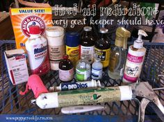 medstext must haves for first aid kit for ailing goats. Excellent list