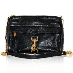 "Rebecca Minkoff Black Ostrich 'M.A.C"" Bag  http://www.consignofthetimes.com/product_details.asp?galleryid=6730"