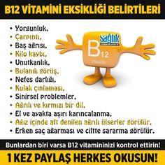B12 vitamini eksikliği belirtileri nelerdir? #b12vitamini Health And Wellness, Health Care, Health And Beauty, Health Fitness, Natural Treatments, Health Remedies, Healthy Life, Anti Aging, Detox