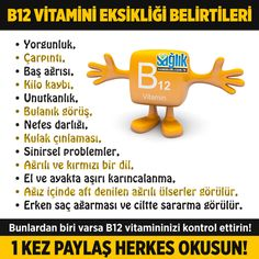 B12 vitamini eksikliği belirtileri nelerdir? #b12vitamini