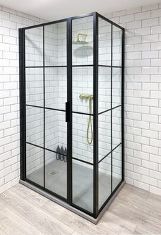 Inspire by design. Shower screens made in the UK Shower Doors, Shower Screens, Minimalist Showers, Black Shower, Bathroom Inspo, Bathroom Ideas, Shower Units, Shower Enclosure, Beautiful Bathrooms