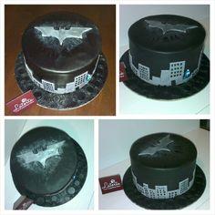 Custom Cakes Hand Painted Dark Knight Birthday Cake Batman - Dark knight birthday cake