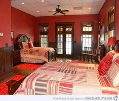 15 invigorating red bedroom designs - Bedroom Color Red