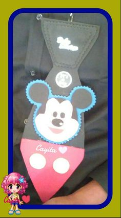 Corbata Mickey Mouse para Baby Shower