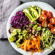 A raw vegetable salad is a great way to #reset. I love raw veggies but I used to have trouble digesting them.Many client's digestive systems are sometimes too weak to digest raw veggies in spite of all their natural enzymes.  Veggies are natures most perfect foods and are also the most abundant foods on earth. They are alkaline-forming and rich with the vitamins and minerals needed to heal your body.  To help with your digestion you can try to add Digest Gold ATPro Enzymes a strong probiotic…