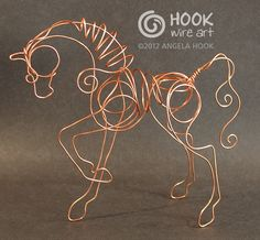 angela hook wire horse