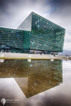 Glass and Metal: The Harpa Concert Hall in Reykjavik, Iceland from the outside.