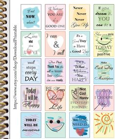 20 Inspirational Motivational Planner Stickers | Quotes Stickers Planner | Download Planner Stickers | Printable Planner Stickers ►INSTANT DOWNLOAD◄ ●Size: ~ Stickers per page 8,5x11 and A4 (8.27 x 11.69) ( each sticker is approximately 1.5 x 1.87) ●Format ~ JPEG ~ PDF This